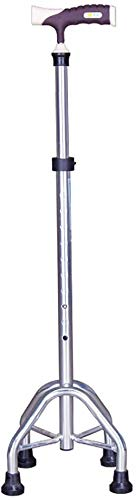 GLJY Healthcare Tetrapod Walking Stick Height Adjustable Crutch Aluminium Alloy Non Slip Cane Applies To Most Occasions And Crowds