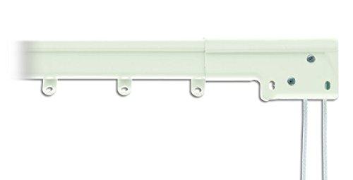 Super Heavy Duty Traverse Curtain Rod 84-156 Inch, White (Center Draw)
