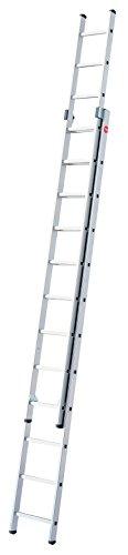 Hailo ProfiStep-Duo - Escalera industrial 2 tramos de aluminio (2 x 12 peldaños)