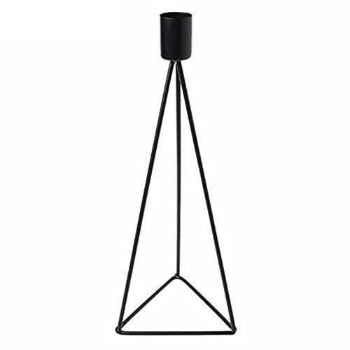 Candelabros Triángulo Geométrico Hierro Candelabro Ornamento para Decoración Negro L Decoración