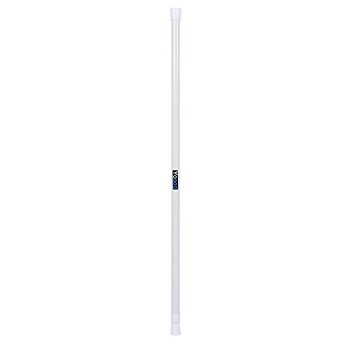 Cikonielf Gardinenstange für Badezimmer, ausziehbar, Teleskopstange, 105 – 200 cm, Stange mit Stange