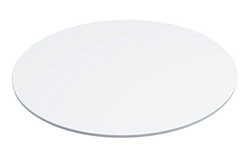 Lékué Assiette en Céramique 27 cm pour Moule à Tarte Blanc Duo
