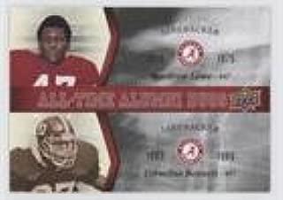 Woodrow Lowe; Cornelius Bennett (Football Card) 2012 Upper Deck University of Alabama - All-Time Alumni Duos #ATAD-LB