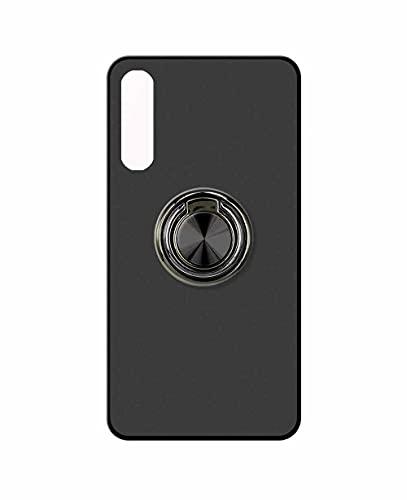 Sunrive Funda Compatible con Sony Xperia 10 III, Silicona Mate Gel Carcasa Case Bumper Anti-Arañazos Espalda Cover Anillo Kickstand 360 Grados Giratorio(A2 Negro) + 1 x Lápiz óptico