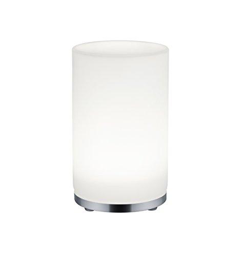 Reality Leuchten R52221106 John A+, LED Stimmungs-Tischleuchte, Glas, 5, watts, Integriert, Chrom, 20, 7 x 20, 7 cm
