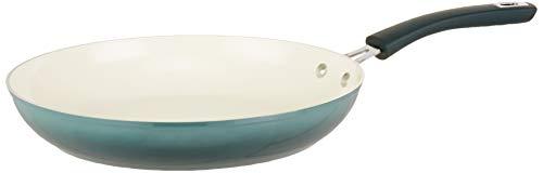 Sartén de aluminio forjado Oster con cerámica antiadherente, base de inducción, mango de baquelita suave al tacto, Gris (Gradient Grey), 30,48cm, 1