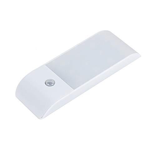 Luz con sensor de movimiento, luz nocturna para armario, luz USB recargable a pilas con LED, tira magnética extraíble para armario, armario, armario, cocina, escaleras [1 paquete]