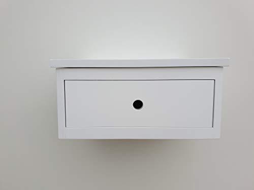 Muebles pejecar mesita para Colgar Modelo Oslo de 1 Cajon lacada en Blanco Fabricada en Madera de...