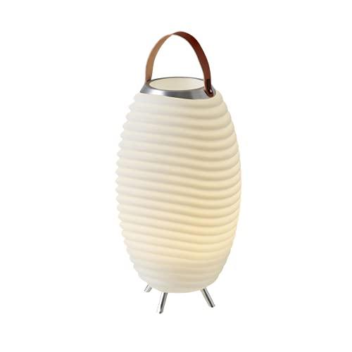 Synergy 50 Pro – 3-in1 LED-Lampe Bluetooth-Lautsprecher & Weinkühler – LED-Licht, Musik-Streaming und Wein-, Champagner oder Bier kühlen – 2600 mAH-Akku für bis zu 11 Stunden Laufzeit