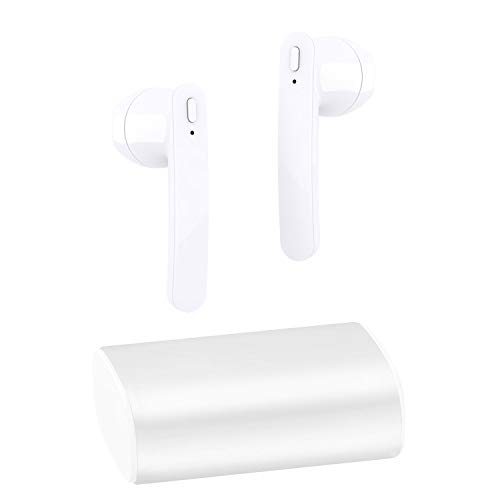 Wireless Earbuds Bluetooth 5.0 Headphones Stereo Bass Bluetooth Earbuds CVC6.0 True Wireless Earbuds 24H Playtime with Charging Case Built-in Mic Compatible for iOS Andriod