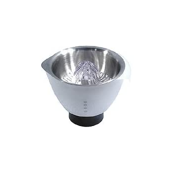 Kenwood Citrus Juicer Chef AT312 Accesorio Exprimidor Compatible Con Robots De Cocina Kenwood Chef Y Major, 0.6 Litros, Acero Inoxidable, Plateado/Blanco: Amazon.es: Hogar