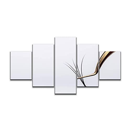 Eyelash Extension tools on white background Accessories for eyelash Wall Art Painting Pictures Print On Canvas Stretched and Framed Modern Artworks Hanging Posters Home Decor (60''Wx32''H)