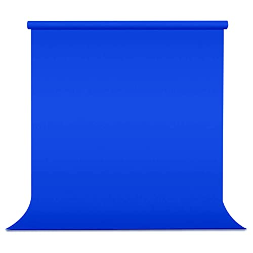 Julius Studio 5 ft.(W) X 10 ft.(H) Blue Chromakey Photo Video Studio Fabric Backdrop, Background Screen, Pure Green Muslin, Photography Studio, JSAG744
