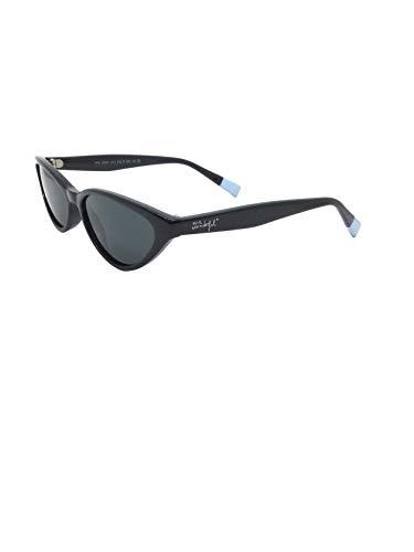 MR WONDERFUL MW 29021 512 53,gafa sol mujer retro en acetato negro,lentes en gris.POLARIZADA.