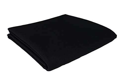 CPBA Competition Worsted Professional Pool Table Cloth – Fast Speed High Accuracy Pre-Cut Bed and Rails ([Competition Grade] Black, 7' Pool Table)