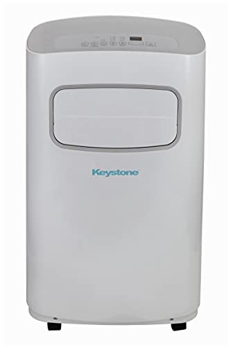 Keystone White/Gray for Rooms up to 300-Sq. Ft KSTAP12CG 12,000 BTU 115V Portable Air Conditioner with Remote Control