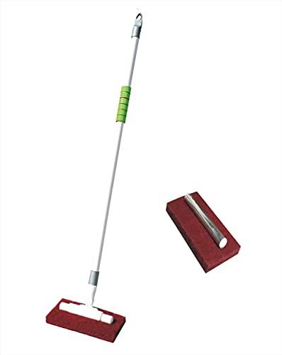 VIMAL JONNEY Nova Long Handle Floor/Tiles Cleaning Scrubber Brush with Refill (Multicolour)