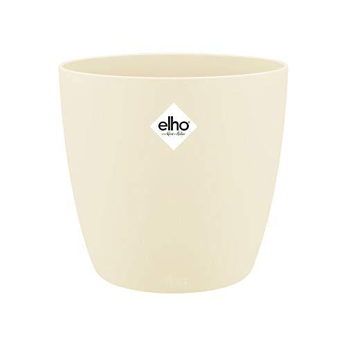 Elho Brussels Rund 16 - Blumentopf - Elfenbein - Drinnen  - Ø 15.9 x H 14.6 cm
