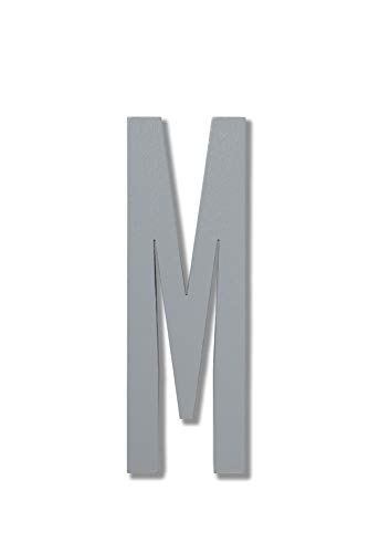Grey Wooden Letters M