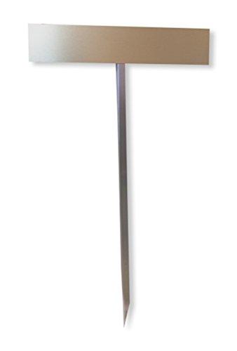 Tuneon Parkplatzschild Einschlagpfosten Nummernschild-Befestigung - zum Einbetonieren, feuerverzinkt, 750 mm