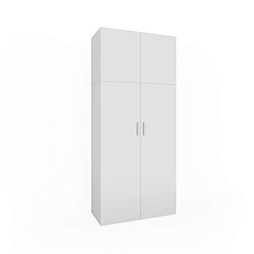 Vicco Mehrzweckschrank Ingo weiß - 2 Türen Universal Schrank Staubsauger Aktenschrank Büroschrank Wirtschaftsschrank Hochschrank