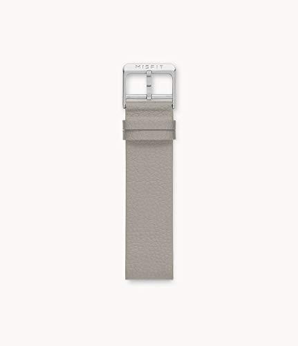 20mm Misfit スマートウォッチ シリコン裏地 レザーバンド カラー:トープ (MIS9282)