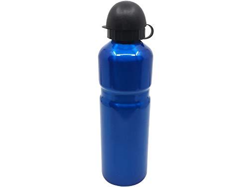 JABs Leichte Blau Eloxierte Aluminium Trinkflasche Rennrad 750 ml Alu Flasche Fahrrad mit Schnellverschluss (Blau)