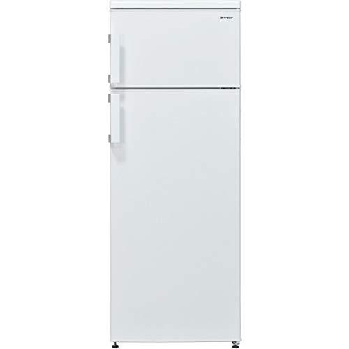 Sharp SJ-T1227M0W-EU Kühl-Gefrier-Kombination / A+ / 144 cm Höhe / 216 kWh/Jahr / 187 L Kühlteil / 40 L Gefrierteil / Bequem, prakstisch und Ihre Lebensmittel lange frisch bleiben
