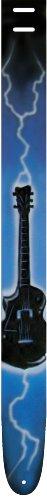 Perri's Leather Airbrush Blue Lightning Gitarre