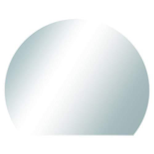 V2Aox Kamin Glasplatte Bodenplatte Glasbodenplatte Funkenschutzplatte Ofen Platte versch. Formen Kingpower, Ausführung:120 x 105 cm - Kreisabschnitt, Dichtlippe:Ohne