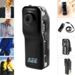 AEE MD80 TFT Liquid Crystal Display 2.0 Mega Pixels Mini Action Camcorder (Black)