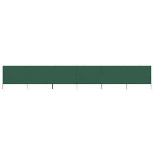 vidaXL Paravent 9 Panneaux Ecran de Plage Anti-Vent Abri de Plage Pare-Vue Coupe-Vent Camping Jardin Pliable Extérieur Tissu 1200x120 cm Vert