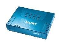 Original Allnet ALL0333B V.2 Annex B Ethernet ADSL Bridge Modem mit Netzteil, 1A