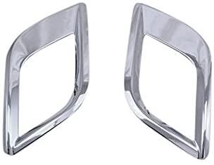 BEAGHTY ABS Chrom Heckendstück Für Opel Mokka 2013 2014 2015 Nebelscheinwerfer Lampenabdeckung Zierleiste Silber 2 Stück