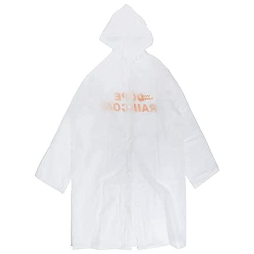 MMJS Parabrisas largo con capucha, impermeable y resistente al viento para migraciones de carretera, impermeable con capucha impermeable poncho de pareja, color blanco