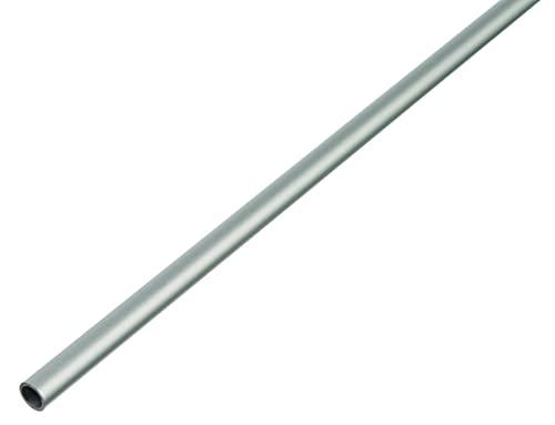 GAH-Alberts 471767 Rundrohr | Aluminium, silberfarbig eloxiert | 1000 x 30 x 2 mm