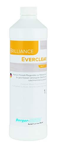 BergerSeidle Everclaer Parkettpflegemittel | + | wasserbasiert, versiegelte, lackierte Parkettböden Holzboden Dielen (1 Liter matt)