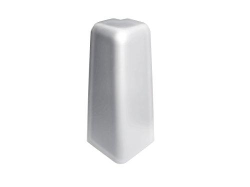 Add2 Außenecken für Add2 MDF Sockelleisten, Silber, 2 Stück im Paket