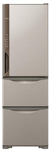 日立 冷蔵庫 315L 3ドア 右開き 幅54.0cm まんなか野菜 R-K32JV T ライトブラウン