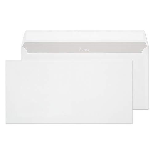 Purely Everyday 22772 Briefumschläge Haftklebung Weiß DL 110 x 220 mm - 90g/m² | 500 Stück