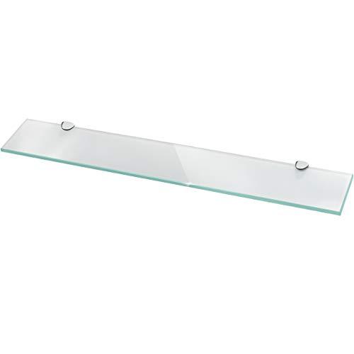 Glasregal Wandregal für Badezimmer Milchglas - Glas Regal aus 6 mm Sicherheitsglas 60x10,16x0,6cm - Glasablage Glasregalboden Badablage