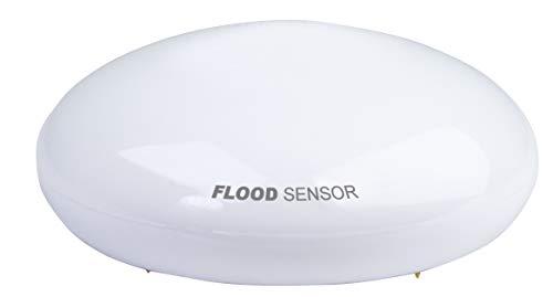 SCHWAIGER -ZHS07- Wassersensor/ Überflutungssensor/ Temperatursensor/ Alarmsirene mit LEDs/ Alarmanlage/ Z-Wave/ Smart Home/ Steuerung per App/ Sprachsteuerung mit Alexa und Google