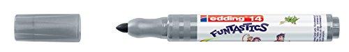 edding Fasermaler Filzstifte e-14 FUNTASTICS, Grau, ca. 3 mm