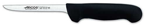 Arcos Serie 2900, Cuchillo Deshuesador, Hoja de Acero Inoxidable Nitrum de 140 mm, Mango inyectado en Polipropileno Color Negro
