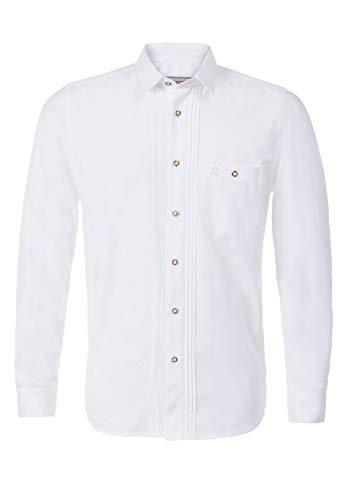 Stockerpoint Trachtenhemd OC-Mike | Weiß mit Kent-Kragen | Regular Fit (XL)
