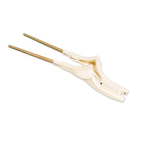 Juego de Cubiertos Vajilla Extra Estable Palillos con Primavera Resina y Bambú Antivibraciones y Antideslizantes para Pacientes Mayores,