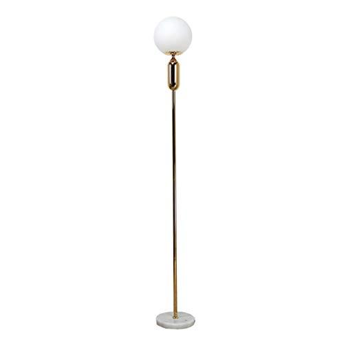JLXW staande lamp, moderne creatieve staande lamp, glazen scherm, hoge palen met marmeren sokkel, wooncultuur, licht voor woonkamer en slaapkamer