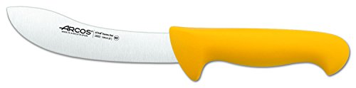Arcos Serie 2900, Cuchillo Despellejador, Hoja de Acero Inoxidable Nitrum de 160 mm, Mango inyectado en Polipropileno Color Amarillo