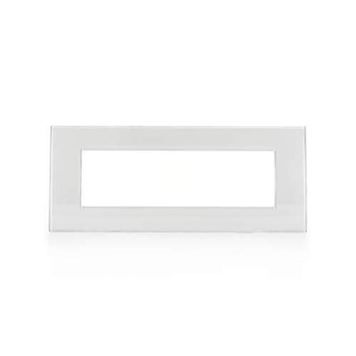 BTicino Livinglight Placca, 7 Moduli, Forma Rettangolare, Bianco