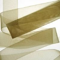 Pale Gold Organza ribbon 22mm 10m length